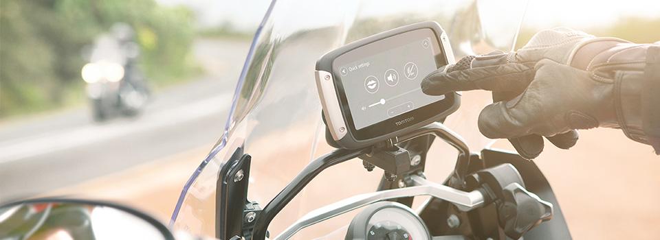 TomTom Rider 400 montiert