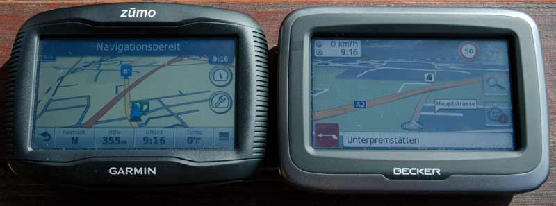 Garmin 390 vs Becker Mamba 4