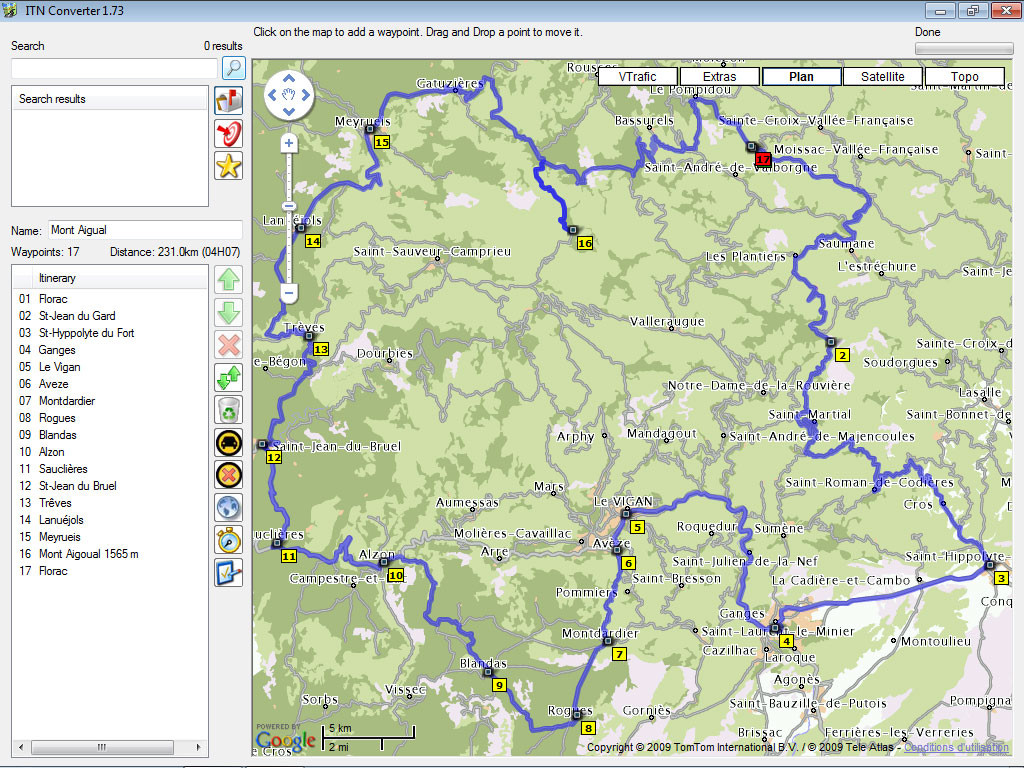 Tomtom Routes mit ITN Converter