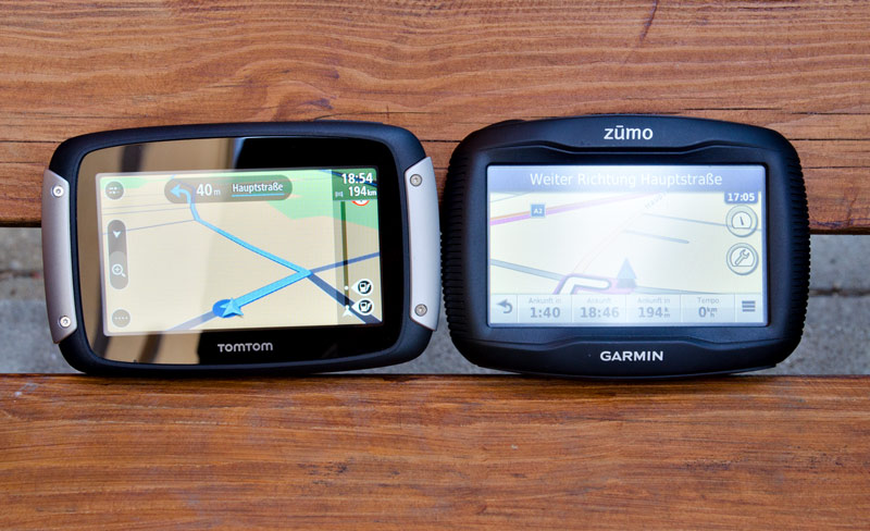 vergleich tomtom rider 400 und garmin 390 zumo motorrad. Black Bedroom Furniture Sets. Home Design Ideas